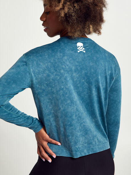 Seamless Long Sleeve Shirt, Deep Sea, large image number 1