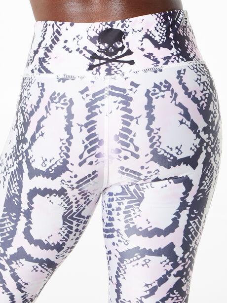 Safi Snake Print Leggings Black/White/Pink, Black/White, large image number 4