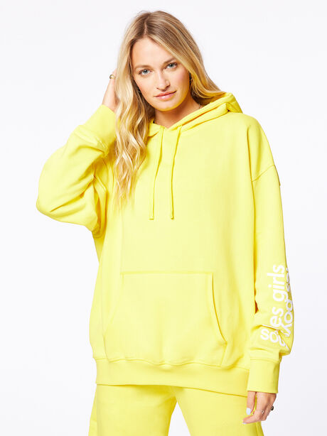 Exclusive Oversized Hoodie Yellow, Yellow, large image number 2
