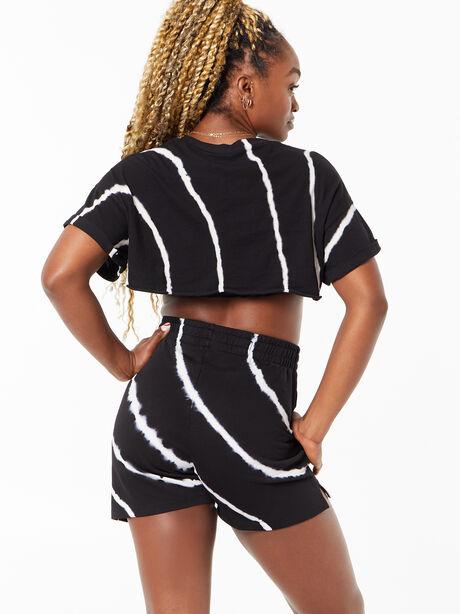 YOS x Lindsey Cropped Tee Black Tie Dye, Tie Dye/Black, large image number 2