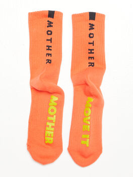 Baby Steps Mid Calf Sock Orange, Orange, large