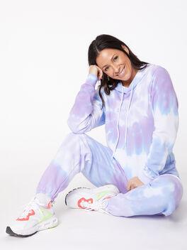 Tie-Dye Billie Hoodie Ice/Lavender, BLUE/PURPLE, large