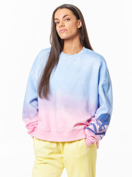 SOUL Green Recycled Cotton Lounge Sweatshirt Purple/Pink, , large