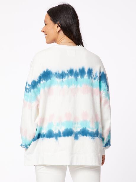 Neil Sweatshirt Balboa Blue/Camilla, White/Blue, large image number 3