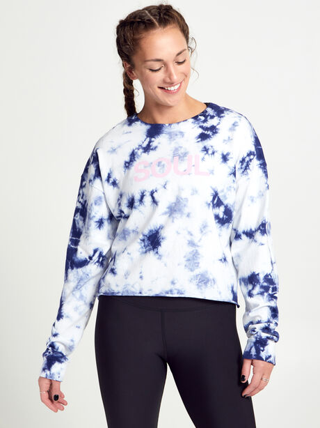 Tie-Dye Soul Long-Sleeve Shirt, Blue Tied, large image number 0