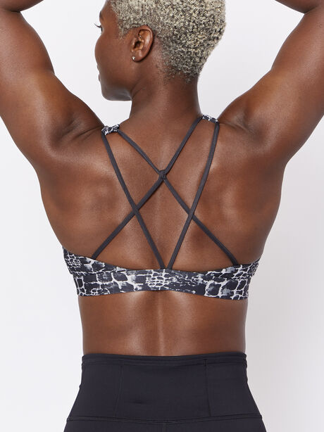 Animal Print To The Point Bra, Black/White, large image number 2