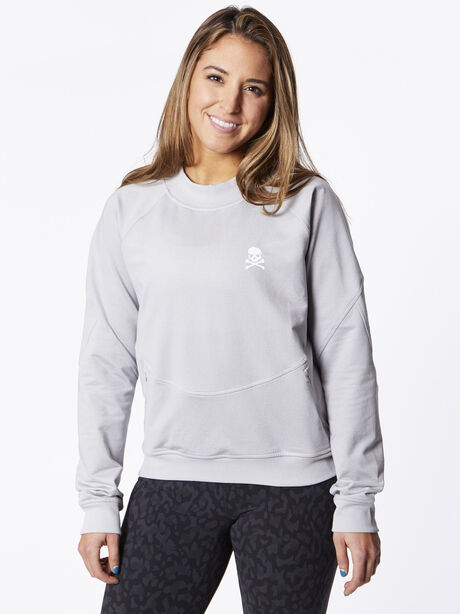 City Sweat Crewneck Heather Grey, , large image number 0