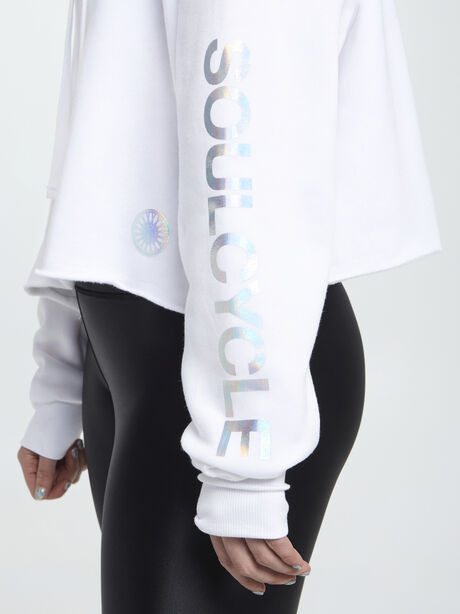 Frost Hoodie W/ Iridescent Foil, White, large image number 1