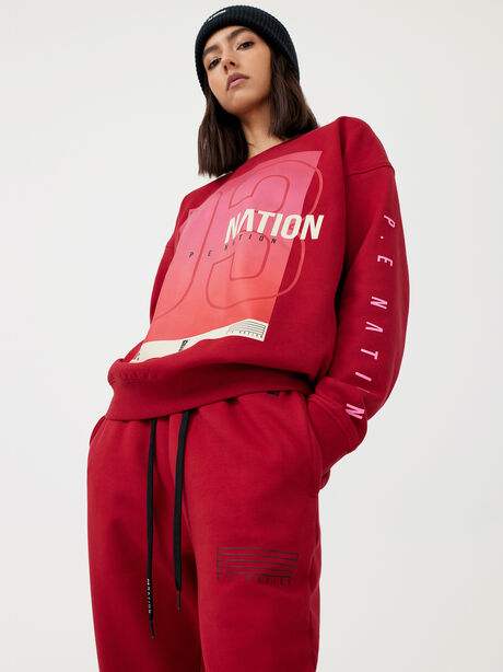 Courtside Sweatshirt Chilli Pepper, Red, large image number 1