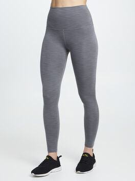 Heather Rib High Waist Midi Legging, Heather Grey, large