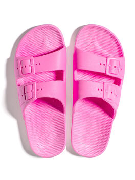 Moses Two Band Slides Bubblegum, Pink, large