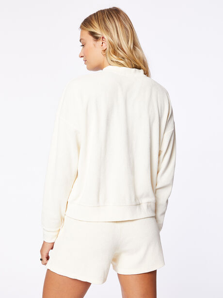 Terry Henley Sweatshirt Cream, Off White, large image number 3