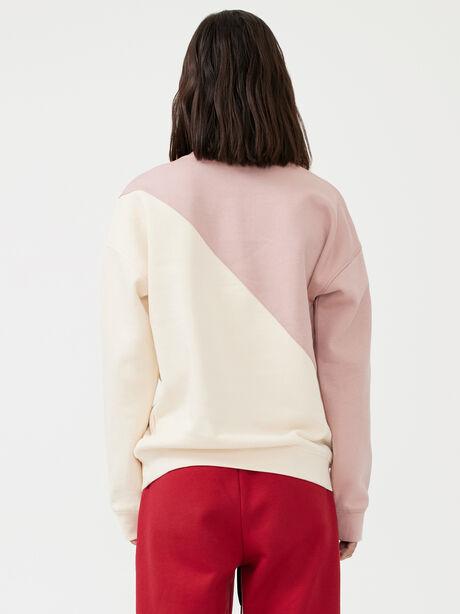Inning Sweatshirt Misty Rose, White/Pink, large image number 2