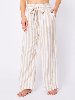 Jessie Tie Front Pants, White, large