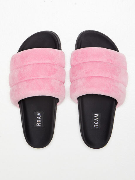 The Puffy Slide Suede Pink, Pink, large image number 0