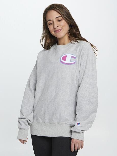 Exclusive Champion Crewneck Sweatshirt, Grey, large image number 0
