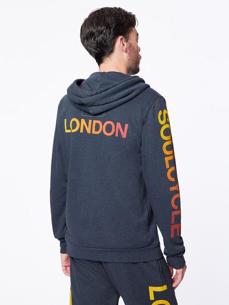 Zip-Up Hoodie Dark Charcoal London, Black Slub, large image number 4