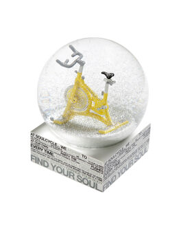 SoulCycle Holiday Snow Globe, White/Yellow, large