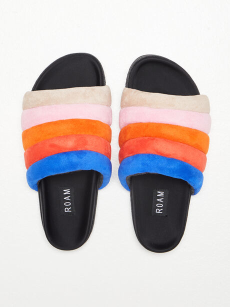 The Puffy Slide Suede Multi, Multi, large image number 0