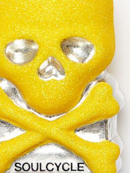 Skull Ornament, Yellow, large