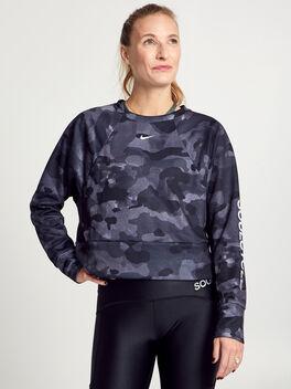 Rebel Dry Fleece Camo Sweatshirt, Camo, large