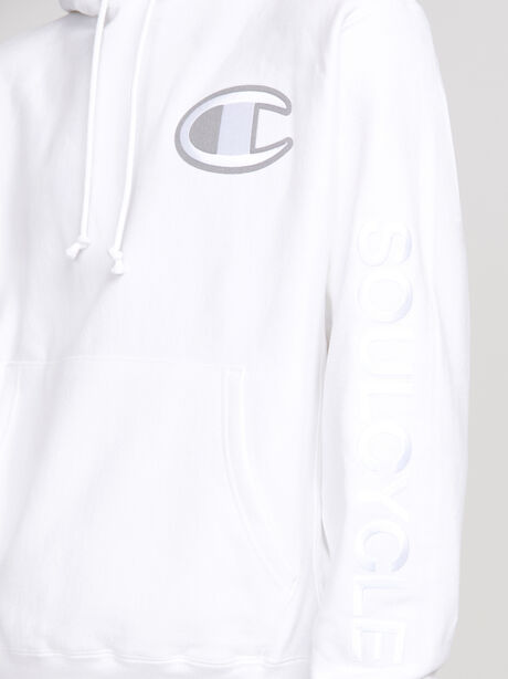 Tonal Hoodie Sweatshirt, White, large image number 2