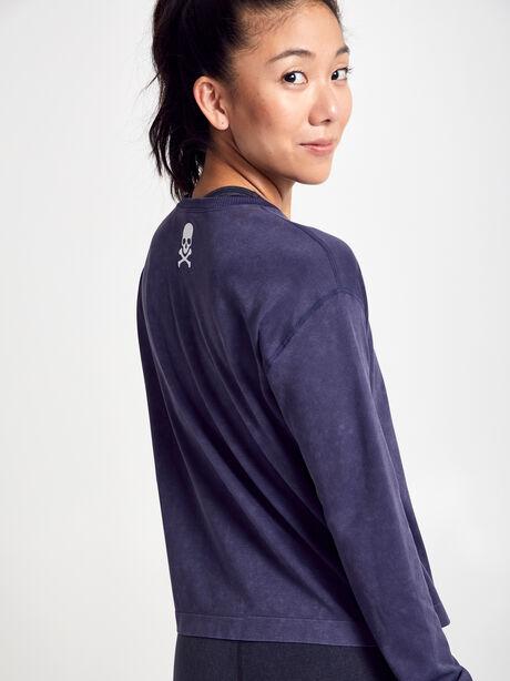 Seamless Boxy Long-Sleeve T-Shirt, Dark Grey, large image number 2