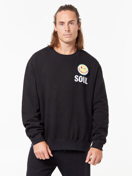 Derek Crew Neck Sweatshirt Black, Black, large