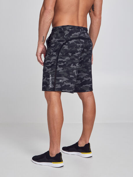 """Pace Breaker Lined Shorts 9"""", Variegated Mesh Camo Black, large image number 1"""