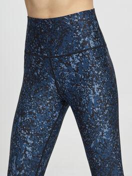 Metallic Splatter Printed Tight, Black/Blue, large