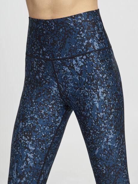 Metallic Splatter Printed Tight, Black/Blue, large image number 1