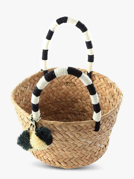 Mini St. Tropez Bag, Black/White, large image number 1