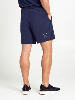"INTERVAL SHORT 7"" lined navy/b, Black/Navy, large"