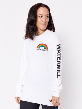 WTML Long-Sleeve Waffle Shirt, White, large