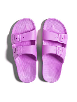 Moses Two Band Slides Ultra Neon Purple, Neon Pink, large