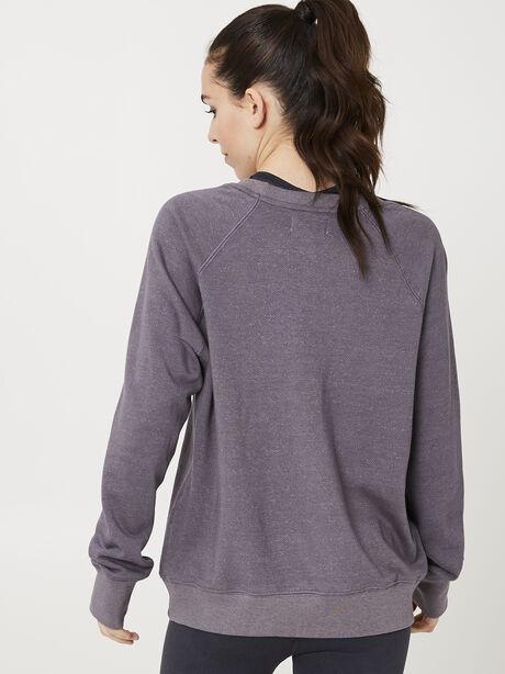 Dropped Shoulder Sweatshirt, Charcoal, large image number 1