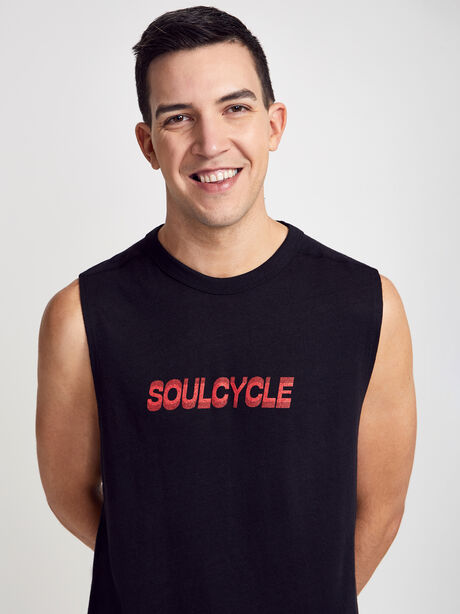 Muscle Tank Top, Black, large image number 0