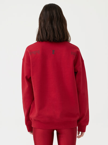 Courtside Sweatshirt Chilli Pepper, Red, large image number 5