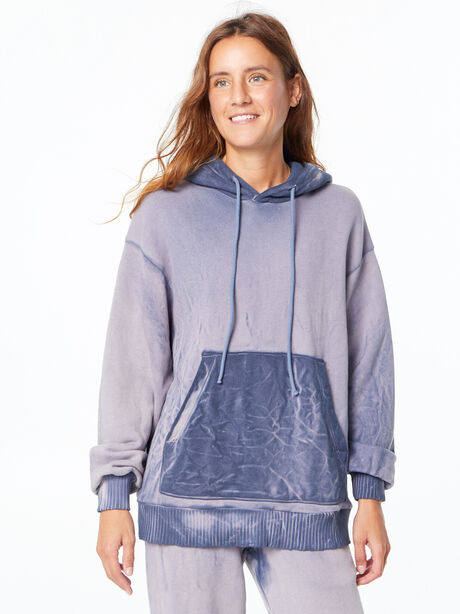Oversized Brooklyn Hoodie Navy Mix, Navy, large image number 1