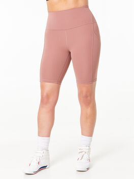 """Align™ High Rise Short with Pockets 8"""" Spiced Chai, , large"""