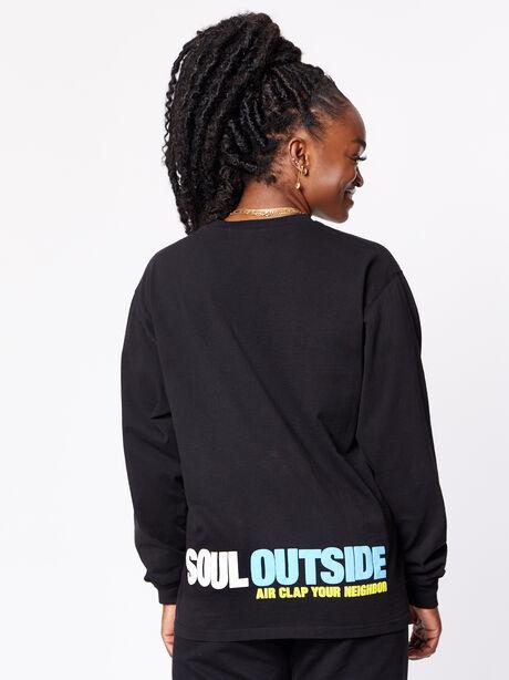 SoulOutside Unisex Oversized Longsleeve Black, Black, large image number 3