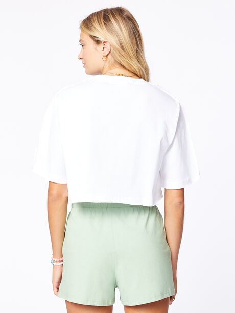 Exclusive Deconstructed Cropped T-Shirt White, White, large image number 2