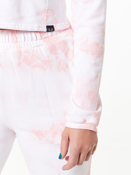 Don't Stop Crop Long Sleeve Rose Cloud, White/Pink, large image number 3