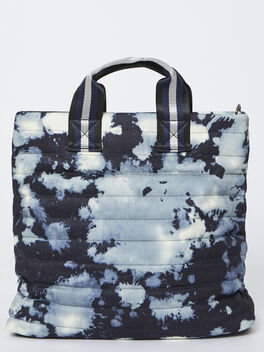 The Editor Bag, Denim Tye-Dye, large