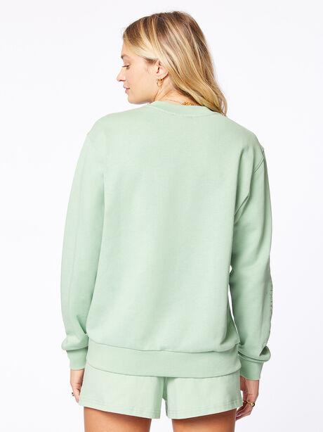 Crew Neck Sweatshirt Mistletoe, Green, large image number 3