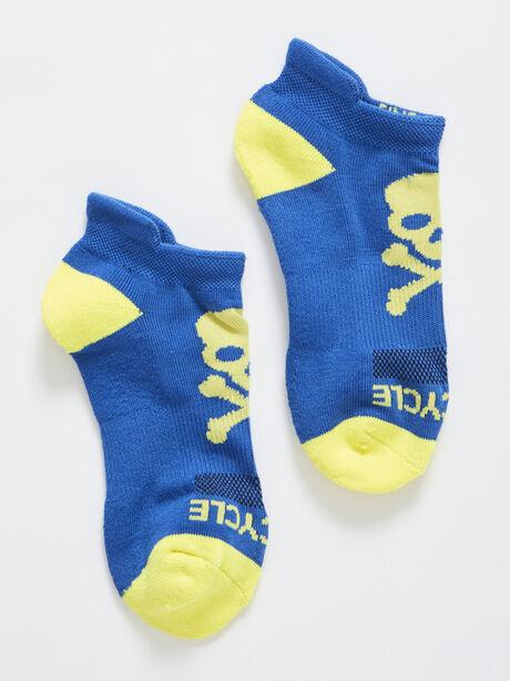 Blue & Orange Ankle Sock, Blue Tied, large image number 0
