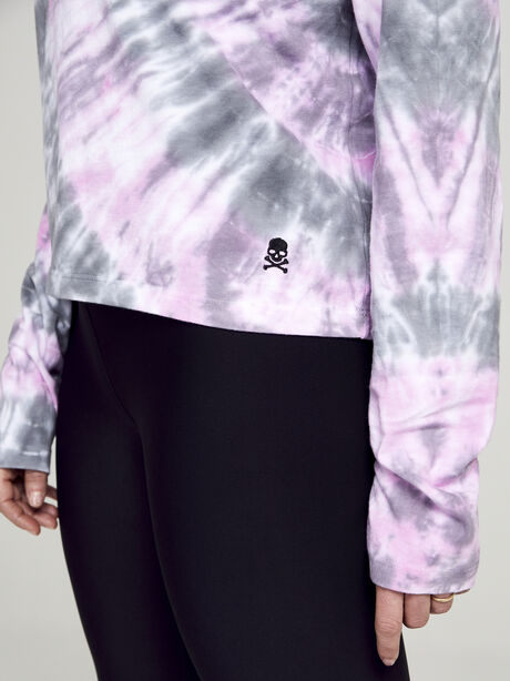 After Class Long Sleeve Tie Dye, Classic Charcoal/Hot Pink/Ref, large image number 2