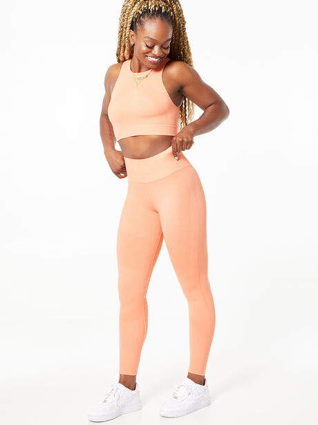 One By One Seamless Legging Peach, Peach, large image number 4
