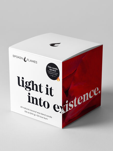 Light It Into Existence Candle, Clear, large image number 0