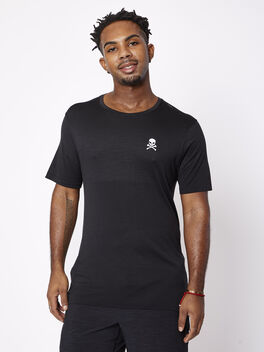 Metal Vent Shortsleeve Breathe, Black/Black, large
